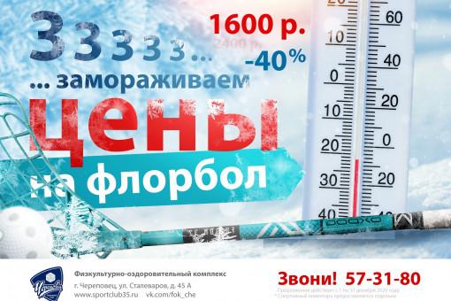 Весь декабрь замораживаем цену на ФЛОРБОЛ